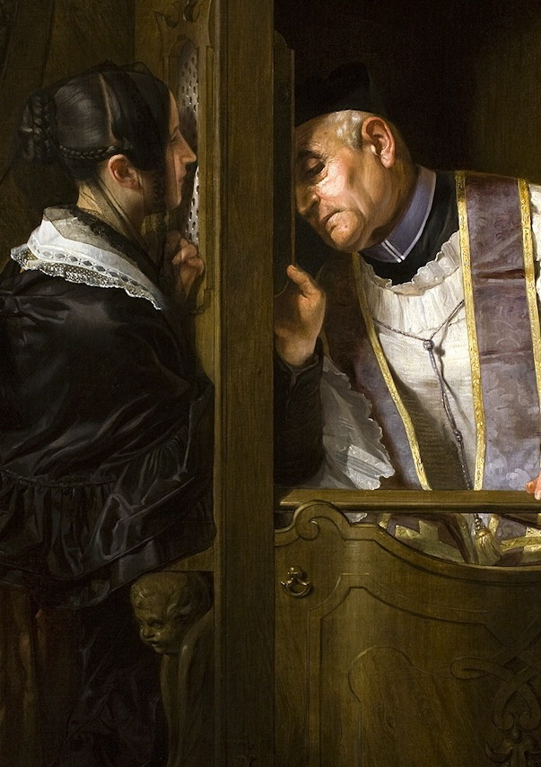 south-america:  The Confession by Giuseppe Moltini—detail