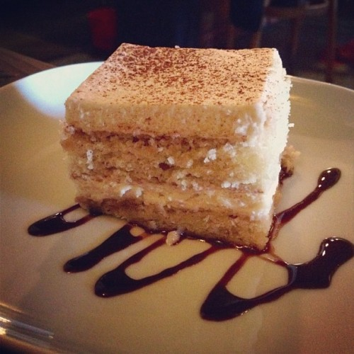 tiramisu. fuck you. (Portobello Vegan Trattoria in Portland)