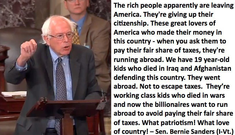 bernie sanders is the man. i thought i'd once posted something about his marathon filibuster (the longest since 1983) a year or two ago, where he talked for 8.5 hours straight about obama extending the bush-era tax cuts for 1%'ers, but apparently not. check him out though if you're unfamiliar, he's one of the few current politicians i truly respect, along with dennis kucinich, mike gravel (now retired), ralph nader, and a select few others. i'm actually subscribed to his email list, the 'bernie buzz.'