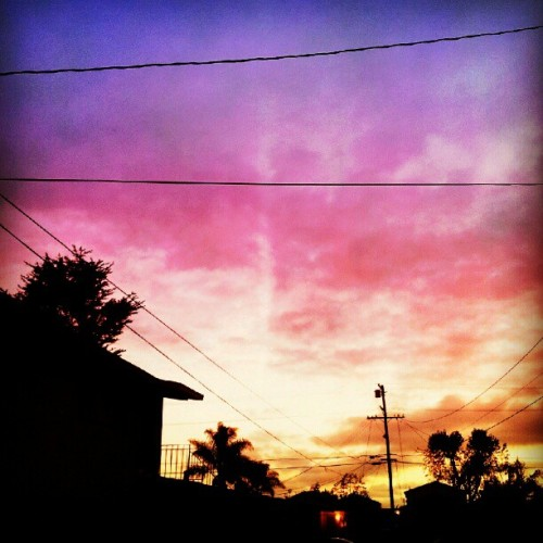LA Sunset :-) #LA #sunset #southerncali #westcoast #323  (Taken with Instagram)