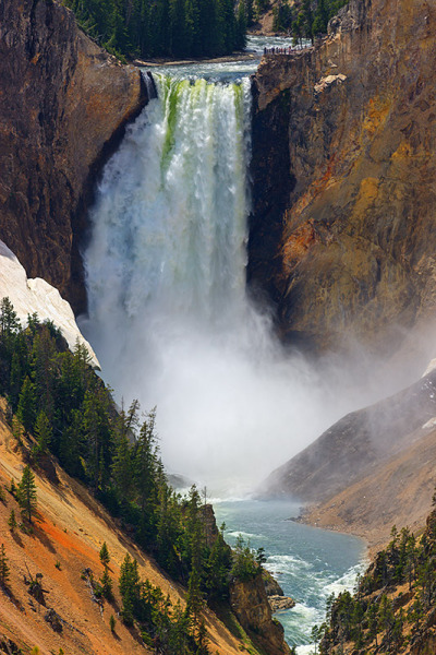 thenakedbrowneye:  Lower Falls - Yellowstone N.P - Wyoming - USA (by ~ Floydian ~)