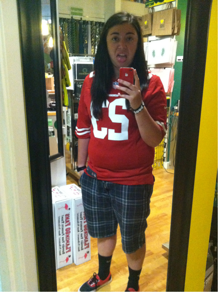 Everyone should be jealous of my LaMichael James 49ers jersey ;)