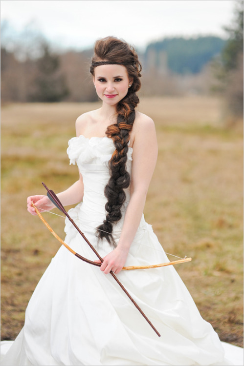 gryffindors:  Hunger Games Inspired Wedding Dress