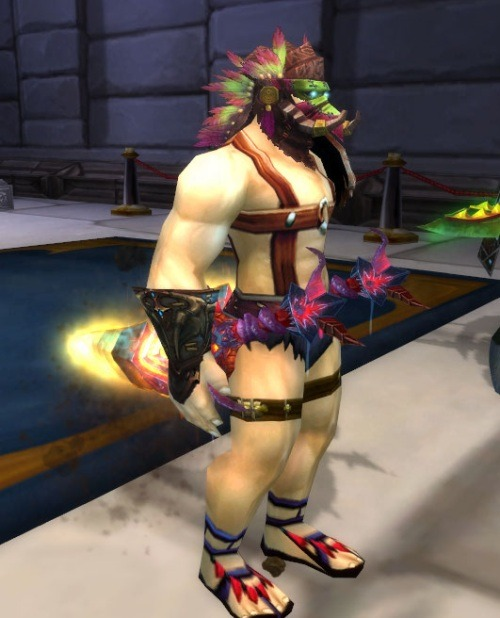 paladincirclejerk:  saw this rogue transmog in the auction house today. i really appreciate this guy's dedication to being naked.  that's hot.