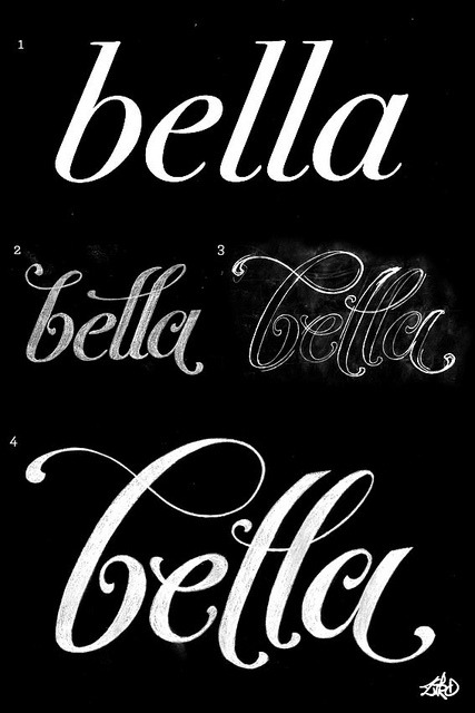 "by9:  ""bella"" - Lettering by Ziro Pictures INK on Flickr."