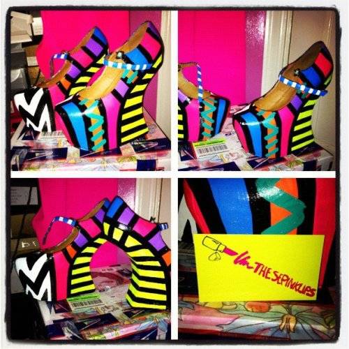 Shoes i painted for a customer! WWW.THESEPINKLIPS.COM