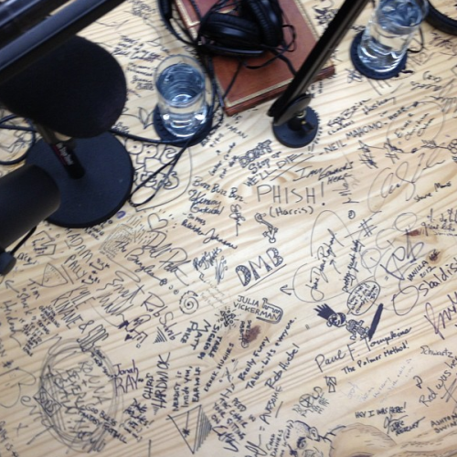 carolineeand:   the table at Earwolf studios  For real tho…who took this picture?
