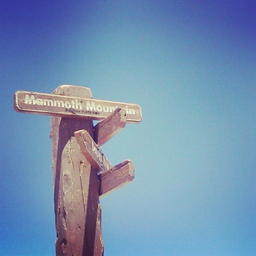 At the top of California #mammoth #mountain #California #cold #view #sign  (Taken with Instagram)