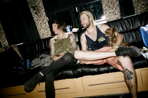 I just posted my Breathe Carolina on Factory 77. You can see Dave and Kyle backstage in their posh trailer at the Warped Tour San Diego stop. Read all about the fainting girls and backstage celebrities including Jeffree Star!  Photo by Brad Elterman