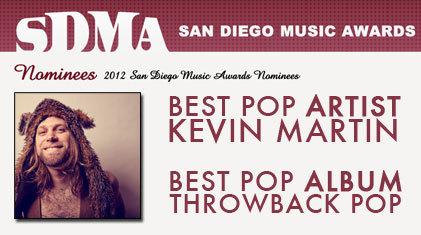Thanks to @SDMusicwards for the 2 nominations this year #2012
