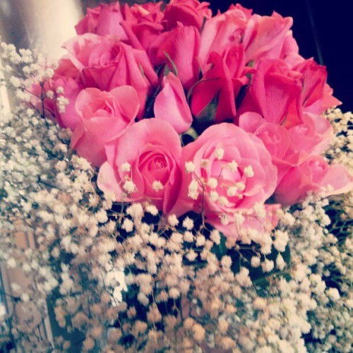 #roses #flower #pink #beauty #indonesia #bouquet (Taken with Instagram at The Trans Luxury Hotel)