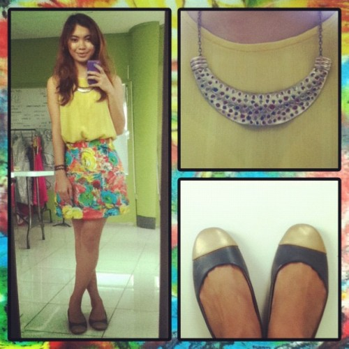 yellow on a gloomy friday. #ootd  (Taken with Instagram)
