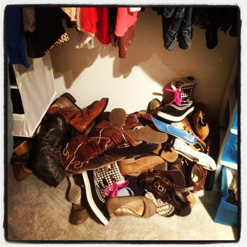Well, my shoes are unpacked… (Taken with Instagram at casa Schnakenwester)