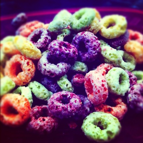 Brunch. #fruitloops #awesome #color #rainbow #instahub #instacool #instagood #instagram #instamood #instadaily #instaaddict #ig_forum #igdaily  (Taken with Instagram)