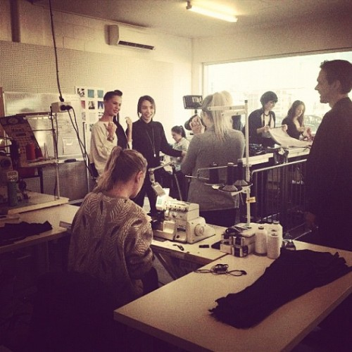 blackmilkclothing:  Behind the scenes! #blackmilkclothing #blackmilk (Taken with Instagram)