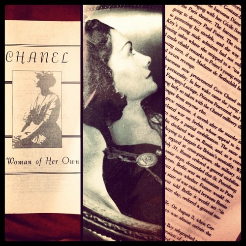 juliustaguirre:  Need to get back with these pages… #chanel #awomanofherown #books #vintage #powerinstyle (Taken with Instagram)