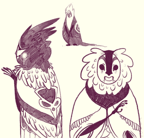 these weird feathery people are really fun to draw wow