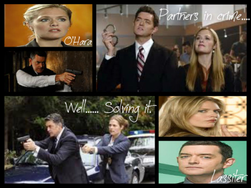Fan collage of Psych's Timothy Omundson and Maggie Lawson as their police detective characters Lassiter and O'Hara Photo by @D12Volunteer
