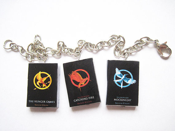 The Hunger Games Mini Book Charm Bracelet