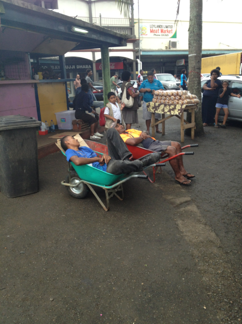 Just another day at work. Suva Markets, Suva City, Fiji
