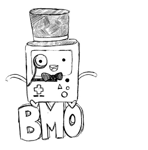 pluginreindeer:  I tried to draw Beemo from Adventure Time but no.   Oh, but yes.