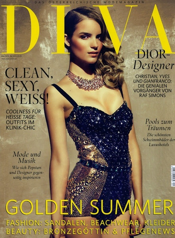 Roos Van Montfort for DIVA Cover May 2012