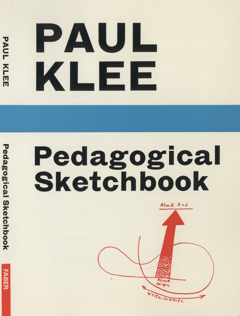 Pedagogical Sketchbook by Paul Klee  Pedagogical Sketchbook is a book by Paul Klee. It is based on his extensive lectures on visual form at Bauhaus Staatliche Art School where he was a teacher in between 1921-1931. Originally handwritten – as a pile of working notes he used in his lectures – it was eventually edited by Walter Gropius, designed by Laszlo Moholy-Nagy and published in 1925 as a Bauhaus student manual (Bauhausbucher No.2, as the second in the series of the fourteen Bauhaus books) under the original title: Pädagogisches Skizzenbuch. It was translated into English by Sibyl Moholy-Nagy (in 1953), who also wrote an introduction for it.  Along with other Bauhaus books such as Theory of Color (by Johannes Itten) and Point and Line to Plane (by Vasily Kandinsky), Pedagogical Sketchbook is a legacy of teaching methods on art theory and practice at Bauhaus Staatliche Art School.  via: Faber&Faber