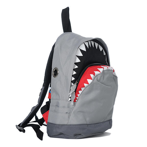 "wickedclothes:  Shark Backpack What do you mean ""why is this backpack shaped like a shark""? Sold on Yes Style."