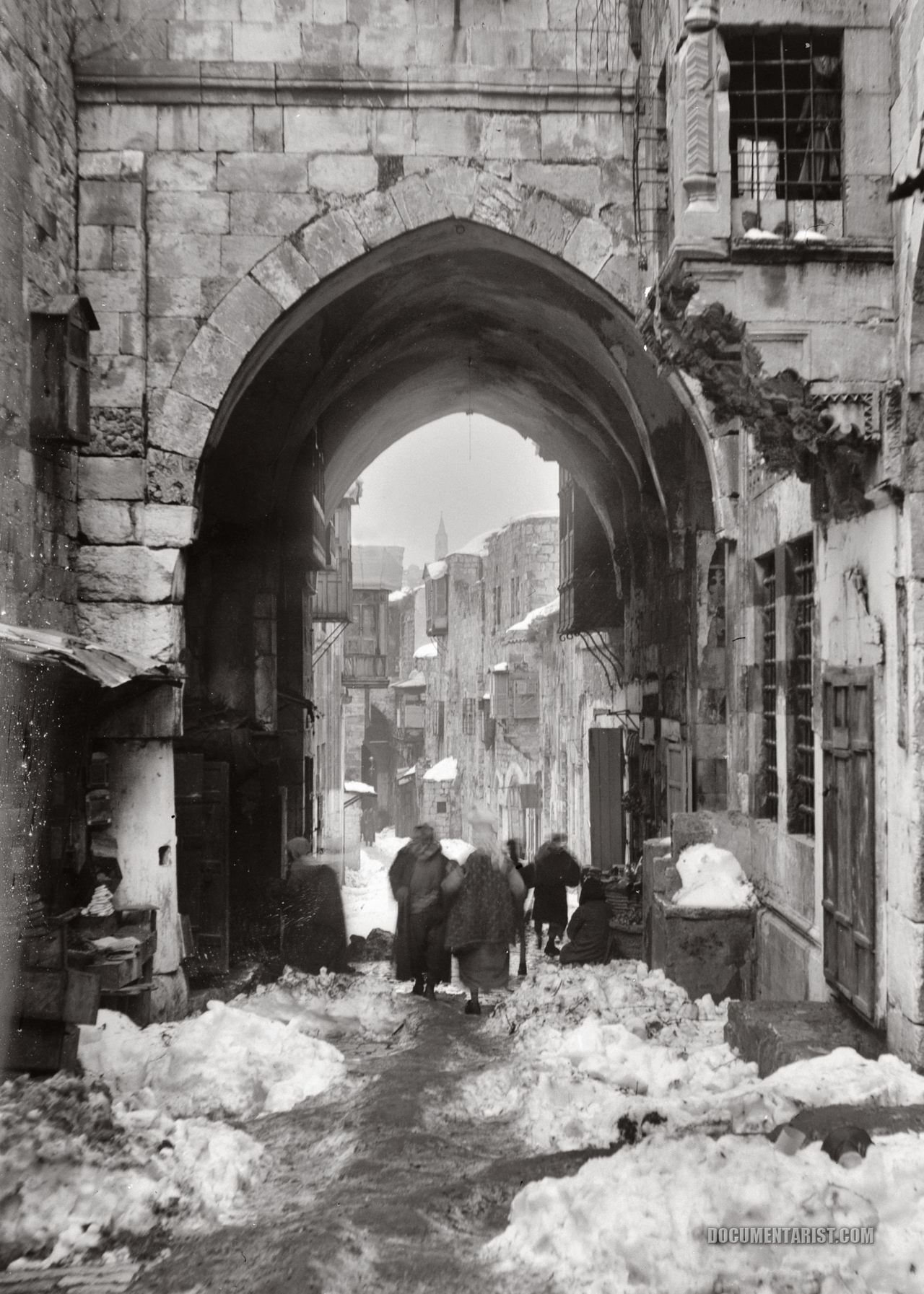 bassman5911:  Snow in Jerusalem: 1921 (Documentarist.com | Historic Photo Archive)