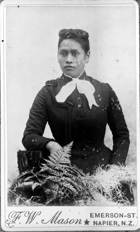 sisterwolf:  Meri Te Tai Mangakahia.  In 1893 Meri addressed the Maori parliament to ask that Maori women be allowed to vote for and become members of that body.