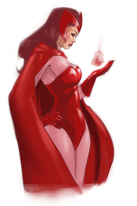 thehappysorceress:  Scarlet Witch by pungang