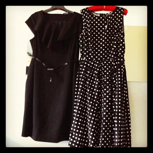 Birthday dresses, one wiggle, one 50s (Taken with Instagram)