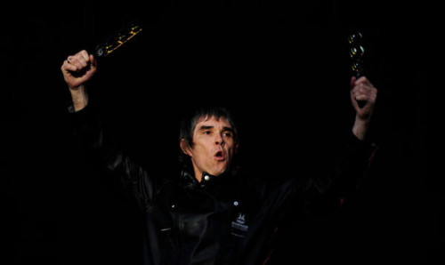 theirishtimes:  I wanna be adored: Stone Roses front man Ian Brown last night at the Phoenix Park. Photo: Aidan Crawley/The Irish Times   King Monkey