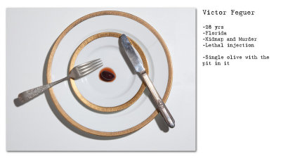 Final 'Death Row' Meal Of Serial Killers An interesting twist on food photography, these show what the final meals looked like for some well known serial killers.  Be sure to click on each to read the print.