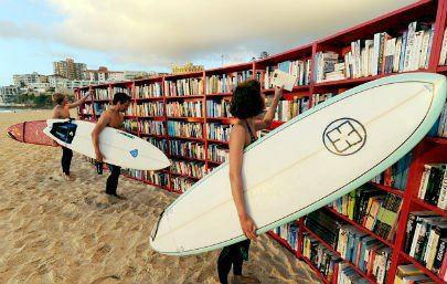 """Books to the beach"" (via ArchitectureFantasy on facebook)"