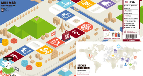 Muji just released their world tour social game, Muji to GO, in which users play sugoroku and win prizes, such as stickers, trunk, and a chance for a Japan tour! When you start, you get 1000 Muji coins and each roll of the dice costs 100 coins. First 500,000 people to receive the Muji to Go sticker can claim at Muji stores and the first 500 people that collect the complete 23 sticker set will receive a sticker design from a world destination! Play Muji to Go now!