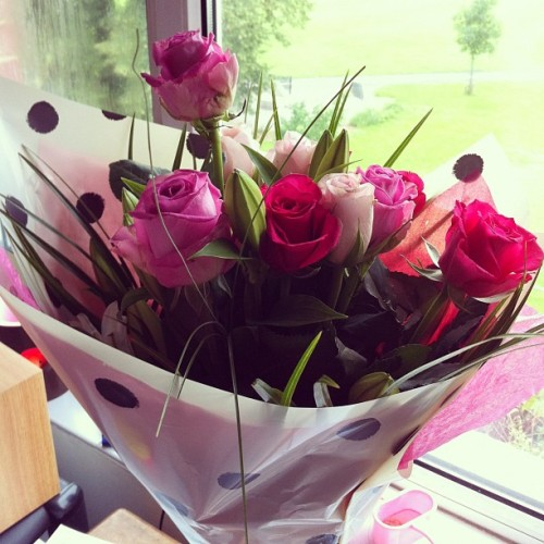 Birthday roses :) (Taken with Instagram)