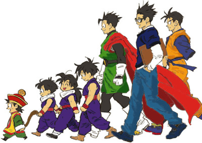 the-life-of-a-geek94:  Gohan is the only character in DBZ who starts out as a little kid and you see grow up and ends up having a child of his own at the end of the series.