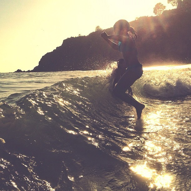 Jumping in the evening light:) - @michellenicoloff- #webstagram