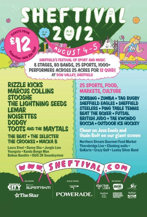 The brilliant line-up to the first SHEFTIVAL ever.