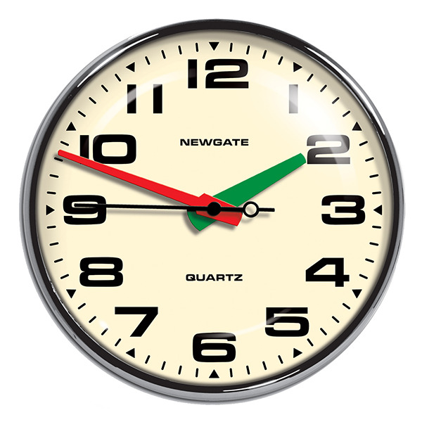 Brixton Wall Clock - ChromeNewgate Clocks