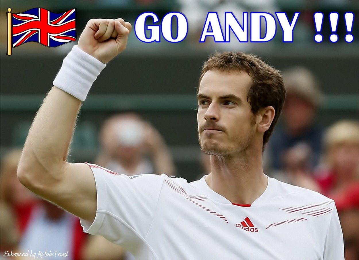 In a few hours, Andy Murray will face Jo Willy Tsonga in his Wimbledon Semi-Final Match!  GO ANDY !!!!
