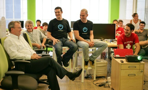Eric Schmidt meeting Soluto - Roee Adler and Tomer Dvir