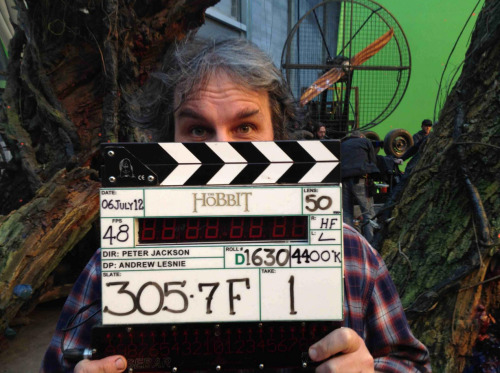 Peter Jackson has announced the end of Principal Photography on The Hobbit after 266 days of shooting!He posted the above image on Facebook (here) with the comment: We made it! Shoot day 266 and the end of principal photography on The Hobbit. Thanks to our fantastic cast and crew for getting us this far, and to all of you for your support! Next stop, the cutting room. Oh, and Comic Con! Cheers, Peter J