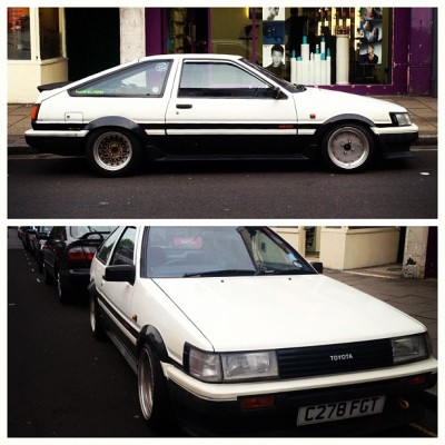 Awesome #Toyota #Corolla #carspotting last night on Essex Rd, Islington, London #ae86 (Taken with Instagram)