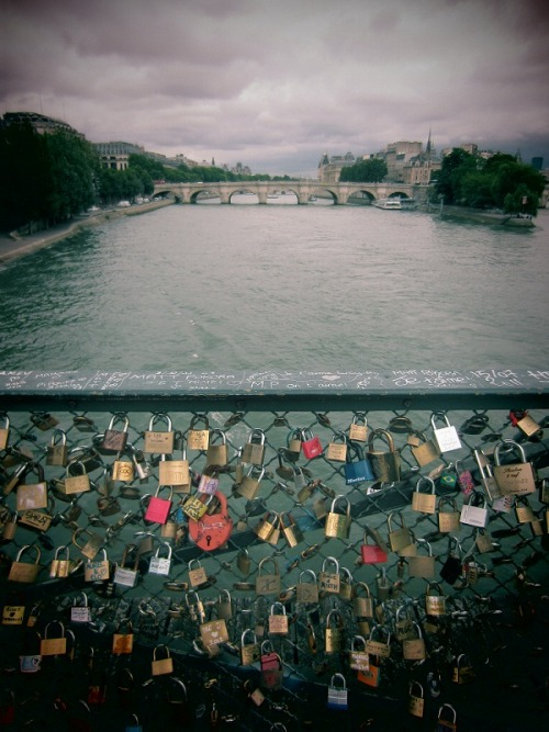 Love locks at the Seine, Paris