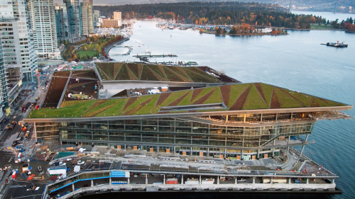 urbanination:  Vancouver Convention Centre's green roof is one of the world's largest.