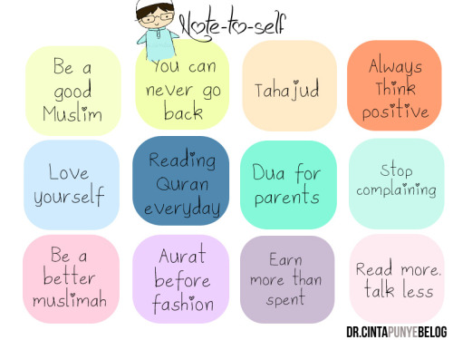 durratunnasihah:  good reminders! :)