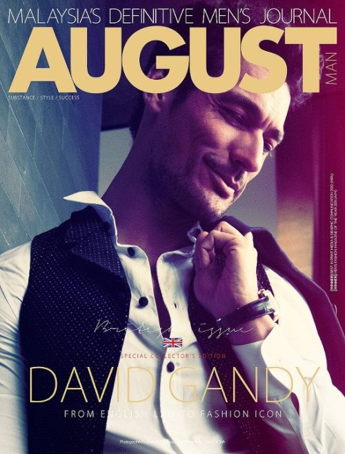 Another digital cover of August Man Malaysia July 2012, featuring David James Gandy photographed by Chiun-Kai Shih.