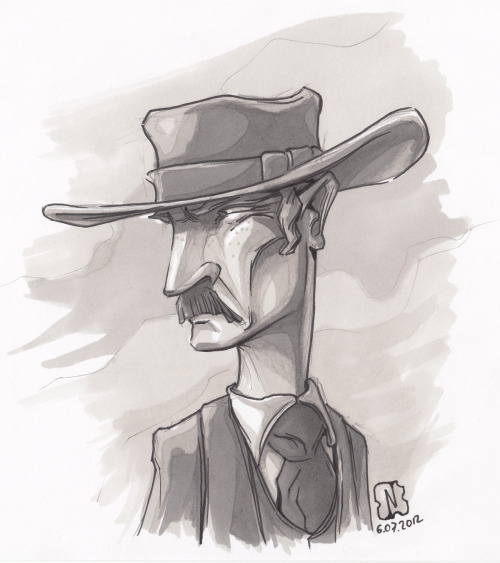 "Colonel Mortimer of a ""For a few dollars more"" by Sergioleone. Awesome guy, epic movie.Sketch of the day.Promarker."